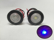 2 Pieces Pactrade Marine Boat LED Livewell Round Button Blue Courtesy Light OEM Waterproof