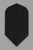 1 set (3 Flights) Black Nylon Slim Dart Flights - Cloth, Fabric, Ripstop