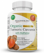 Menopause Pro's Turmeric Plus 120 Capsules Premium Organic Turmeric Extract with 95% Curcuminoids and BioPerine for 2000% Better Bioavailability For Natural Inflammatory Support