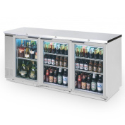 Beverage Air BB72GY-1-S-27 Standard Depth Glass Door Back Bar Cooler in Stainless Steel w/Stainless Steel Top