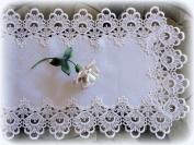 Lace Dresser Scarf Table Runner Decandent White European Doily 90cm
