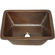 Sinkology Hawking 43cm Dual Mount Copper Sink Handmade Pure Solid Copper in Aged Copper