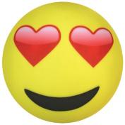 iscream Emoji Heart Eyes Microbead Pillow