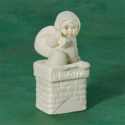 "Snowbabies ""Be Joyful"" Sentiment Box Santa Chimney"