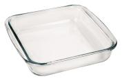 Marinex Bakeware Square Glass Roaster with Plastic Lid, 23cm - 1.6cm x 20cm - 1.9cm x 5.1cm