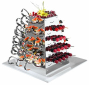 APS Paderno World Cuisine Stainless Steel Rotating Buffet Serving Pyramid