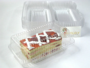 Katgely Loaf Plastic Container for Cookies, Brownies and Fruit Bars