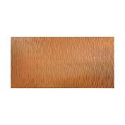 Fasade Waves Vertical Polished Copper 1.2m x 2.4m Wall Panel