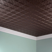 Fasade Traditional Style #10 Argent Bronze 0.6m x 1.2m Glue-up Ceiling Tile