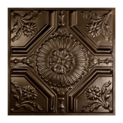 Great Lakes Tin Rochester Bronze Burst 0.6m x 0.6m Lay-in Ceiling Tile