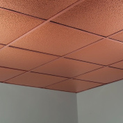 Fasade Hammered Polished Copper 0.2sqm Lay-in Ceiling Tile