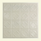 Great Lakes Tin Ludington Antique White 0.6m x 0.6m Lay-In Ceiling Tile