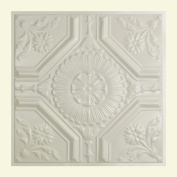 Great Lakes Tin Rochester Antique White 0.6m x 0.6m Lay-In Ceiling Tile