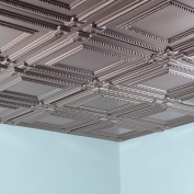 Fasade Coffer Brushed Nickel 0.2sqm Lay-in Ceiling Tile