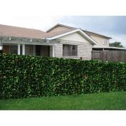 Century Outdoor Living Artificial Planes Hedge Fence Covering Red Laurel