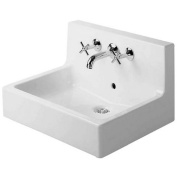 Duravit Vero 60cm Washbasin with Back Panel for Wall Spout