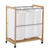 EcoStorage 3-bag Bamboo Laundry Cart