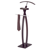 K & B Curved Walnut Valet Stand