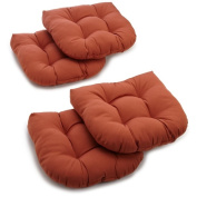 Blazing Needles 19 x 19 U-shaped Tufted Twill Chair Cushions