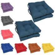 Blazing Needles 41cm Square Tufted Twill Dining Chair Cushions