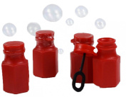 "Dazzling Toys Mini Hexagon Red Bubble Bottles - Pack of 48 - Add Some ""Pop"" To a Graduation Ceremony Or Bubble Party With These Hexagon Red Bubble Bottles"
