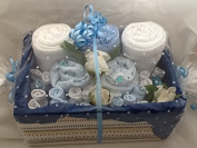 Baby Boy Flowers Hamper - Exclusive to The Gift Box