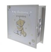 Button Corner Book Keepsake Box with Draws Christening Gift