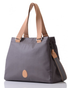 PacaPod Richmond Slate Designer Baby Changing Bag - Luxury Charcoal Pattern 3 in 1 Organising System