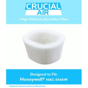1 Honeywell HAC-504AW Humidifier Filter; Fits Honeywell HCM-600, HCM-710, HCM-300T & HCM-315T. Part # HAC-504AW