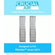 2 Hunter 30973 Air Purifier Filters Fit 30890 & 30895 Models