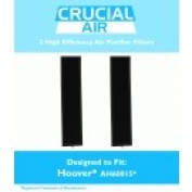 2 Hoover AH60015 Air Purifier Filters Fit WH10400, WH10600, WH10610, 400 & 600 Series
