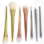 7pcs Pro Real Metal Techniques Brush Facial Blush Foundation Cosmetic Makeup Tool