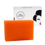 Kojie San Skin Lightening Kojic Acid Soap - 65g Fades age spots, freckles, and other signs of sun damage, heals acne blemishes and erases red marks and scars