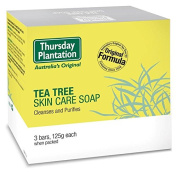 Thursday Plantation Tea Tree Soap 125g*3 ideal for removing the build up of oil and dirt