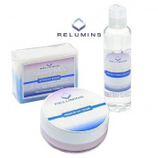 Authentic Relumins Advance White Facial Set - TA Stem Cell Premium Day Cream, Intensive Repair Toner & Soap
