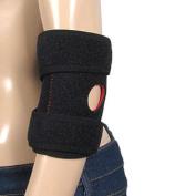 Sports Black Stretchy Neoprene Elbow Support Brace XXL