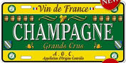 AMERICAN METAL PLATE COLLECTION FRANCE CHAMPAGNE GREAT WINE