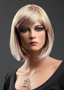 Forever Young Ladies Short Blonde Wig Bob Style in 2 Tone Ash Blonde & Platinum Blonde Blend