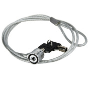 INSTEN 0.9m Silver Notebook Security Lock Cable with Two Keys