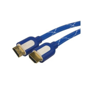INSTEN 7.6m M/ M High Speed Mesh Blue HDMI Cable