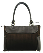 G. Pacific by Traveller's Choice Women's Casual Suede Business Laptop Tote