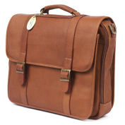 Claire Chase Porthole Leather Computer Briefcase