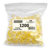Efficient Cigarette Filters Bulk Economy Pack (Total 1200 Filters), In a convenient resealable bag.