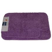 The Big One Purple Bath Rug Set Plush Comforel Nylon 2 Rugs Skid Resistant Mat