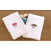 His and Hers Embroidered Hand Towel