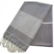 Scents and Feel Bi-Colour with Lurex Pareo Sarong Shawl, Black/White