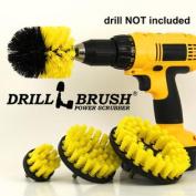 Nylon Power Brush Tile and Grout Bathroom Cleaning Scrub Brush Kit