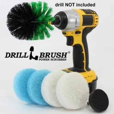 Power Hard Water Stain Removing Brush, Scrub Pads for Bathroom, Tub and Tile Shower Kit