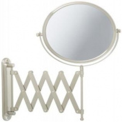 Jerdon JP2027N 20cm Wall Mount Makeup Mirror with 7x Magnification, Nickel Finish