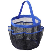 Portable Shower Caddy Mesh 8 Pocket Quick Dry Travel Tote Carry Handle Gym Dorm